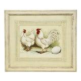 Image of Antique German Framed Chicken Print For Sale