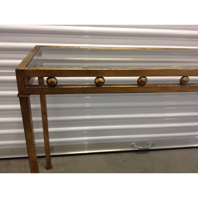 Vintage Gilt Metal Console Table - Image 4 of 5