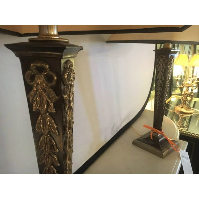 Brass & Steel French Table Lamps - Pair - Image 8 of 8