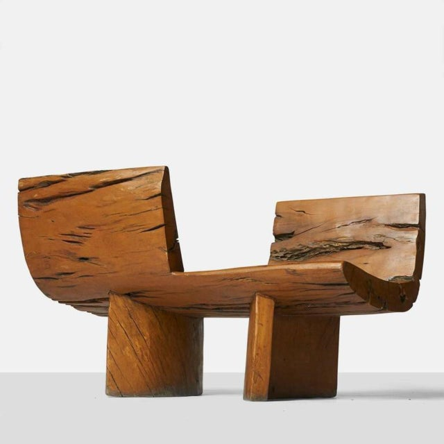 Brown Tete a Tete Bench by Hugo Franca For Sale - Image 8 of 9