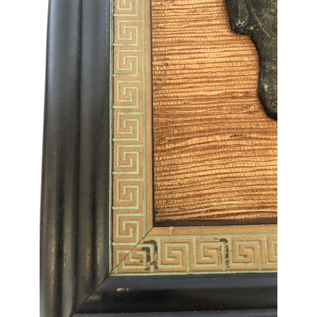 Wood Hollywood Regency Framed 3d Buddhas With Greek Key Border -Pair For Sale - Image 7 of 11