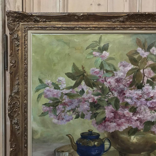 Canvas Russian Framed Oil Painting on Canvas For Sale - Image 7 of 11