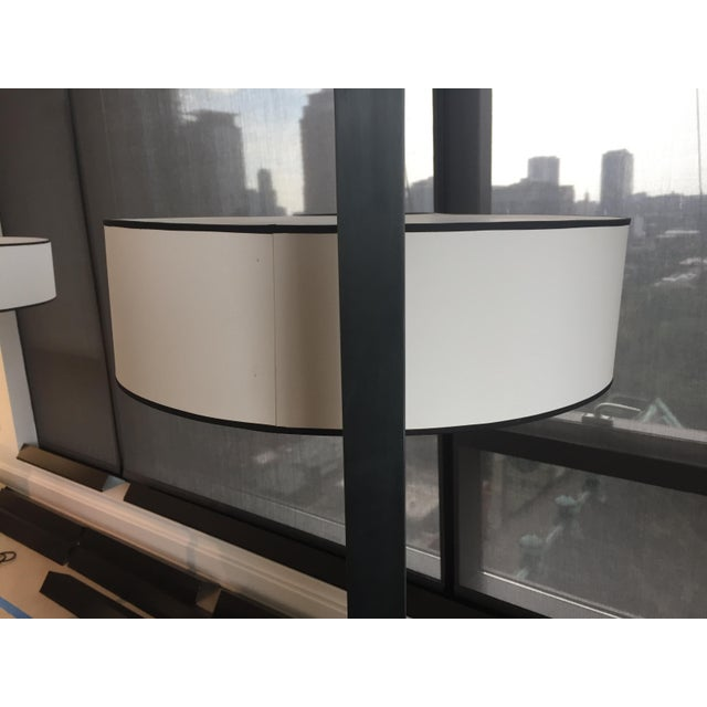 Contemporary Metal Silk Shade Floor Lamp 2 Available For Sale - Image 9 of 11