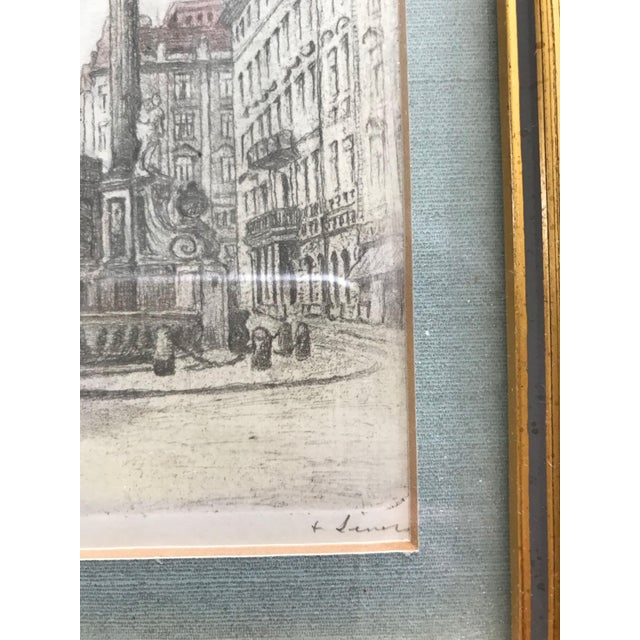 1960s Signed European Hand Tinted Engraving For Sale - Image 5 of 8