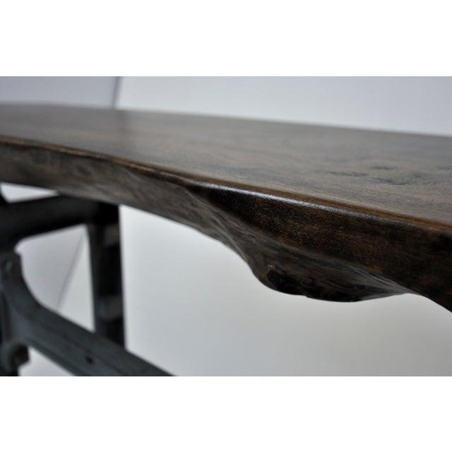 Handmade Walnut & Steel Console Table - Image 7 of 10