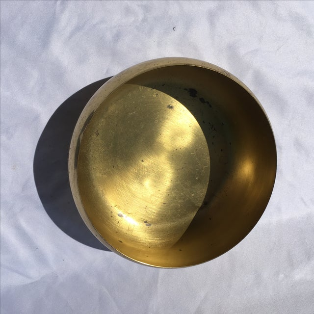 Vintage Brass Footed Bowl For Sale - Image 4 of 6