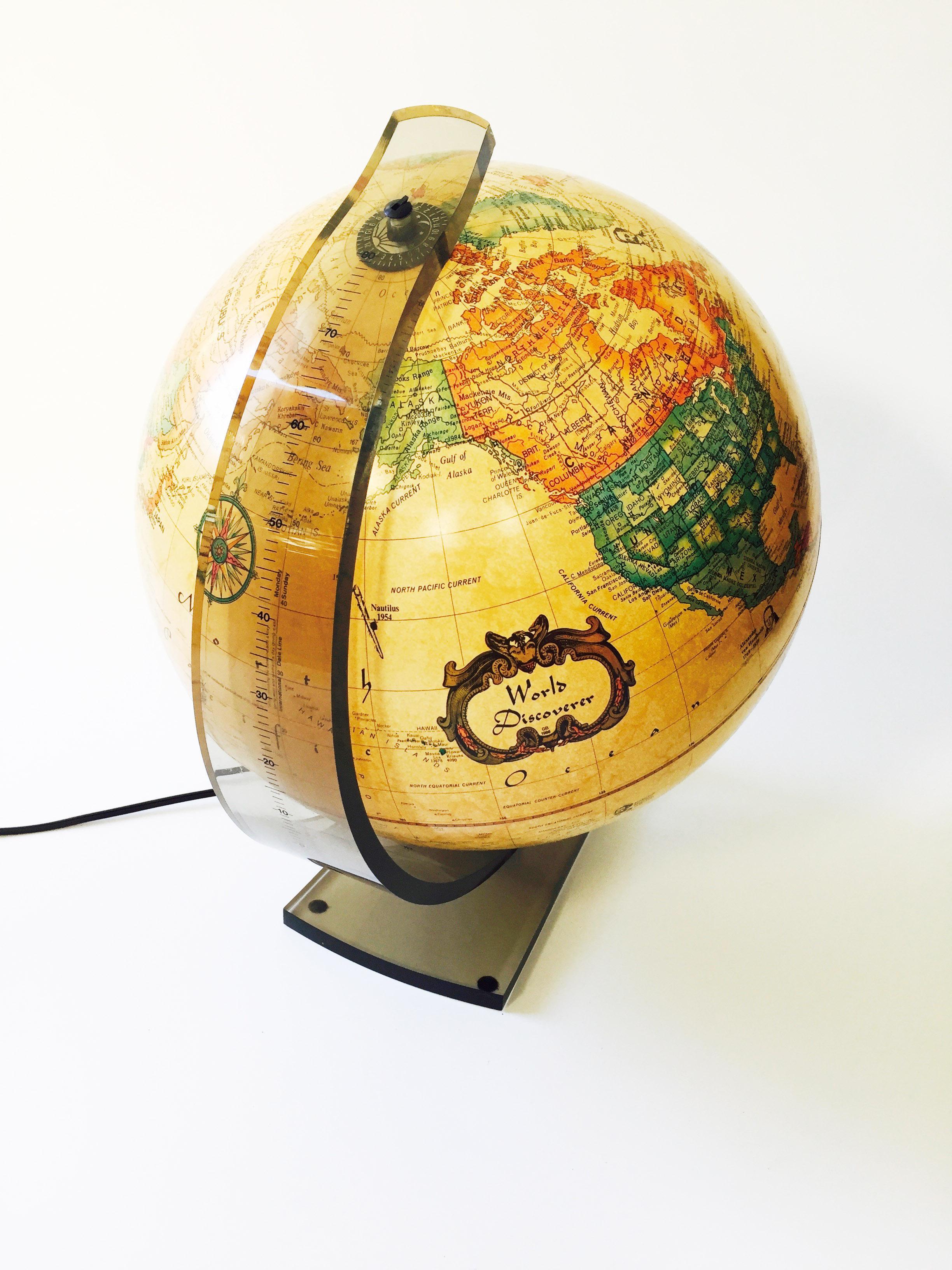 Vintage World Globe Lamp   Image 3 Of 6