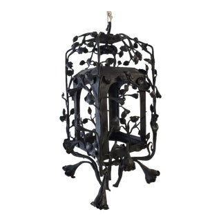 Late 19th Century French Hand Crafted Iron Lantern For Sale