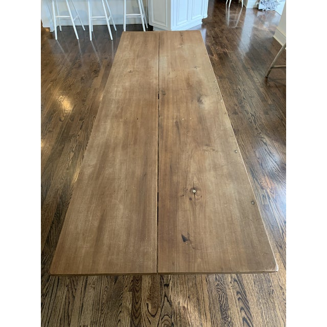 20th Century Farmhouse Dining Table For Sale - Image 4 of 11
