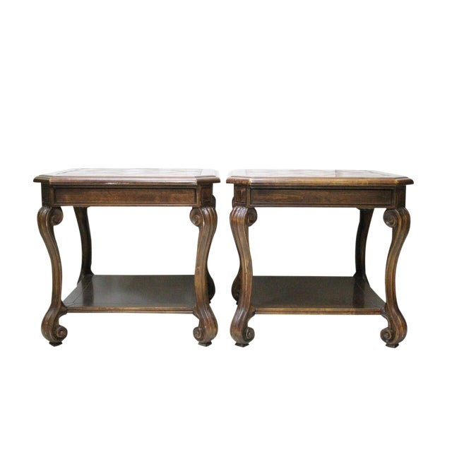 Italian Style End Tables - A Pair - Image 1 of 2