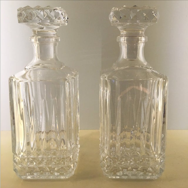 Diamond Glass Decanters - Image 2 of 8