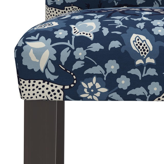 Not Yet Made - Made To Order Bar stool in Leopard Blue For Sale - Image 5 of 8