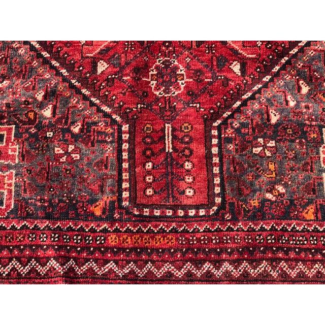 "Vintage Persian Qashghi Rug - 5'1""x8' - Image 2 of 9"
