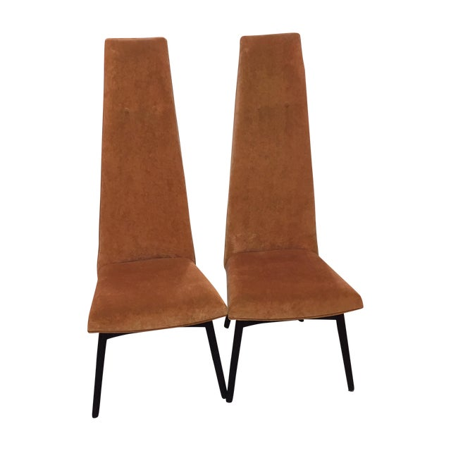 Adrian Pearsall High Back Chairs - Pair - Image 1 of 3