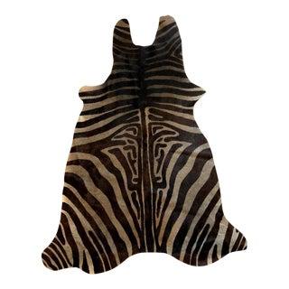 Zebra Cowhide Rug - 3′10″ × 5′7″