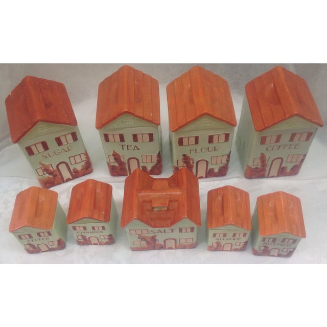 Vintage Mepco Ceramic Jars - Set of 9 - Image 3 of 5