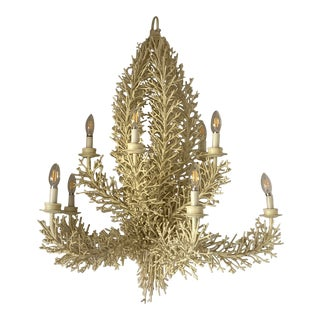 1970s Faux Coral Chandeliers For Sale