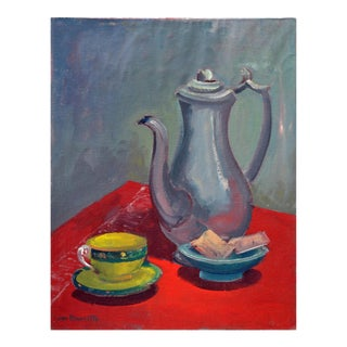 Red Table Still Life Painting