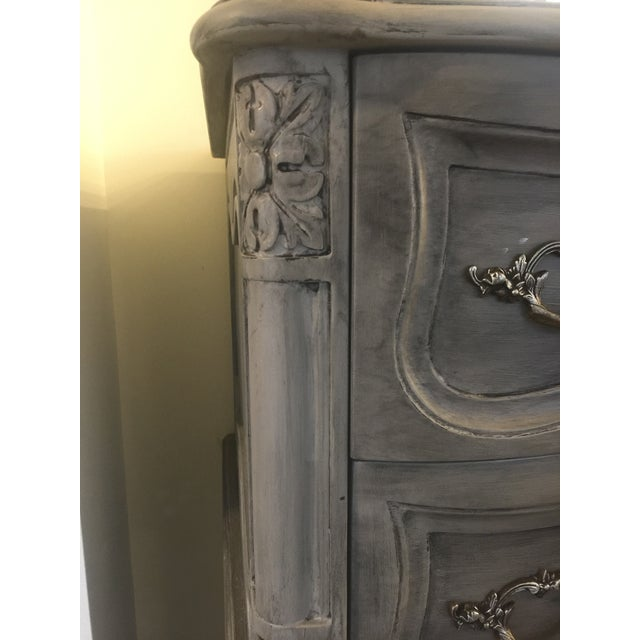 French Louis XV Style Tall Chalk Painted Dresser - Image 4 of 4