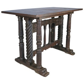 Early 18th Century Italian Library Table For Sale