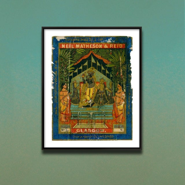This is a beautiful museum-quality print of an original Indian Trade Label from the early 1900s. As you can see, the...