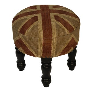 The British Are Coming Taupe Footstool