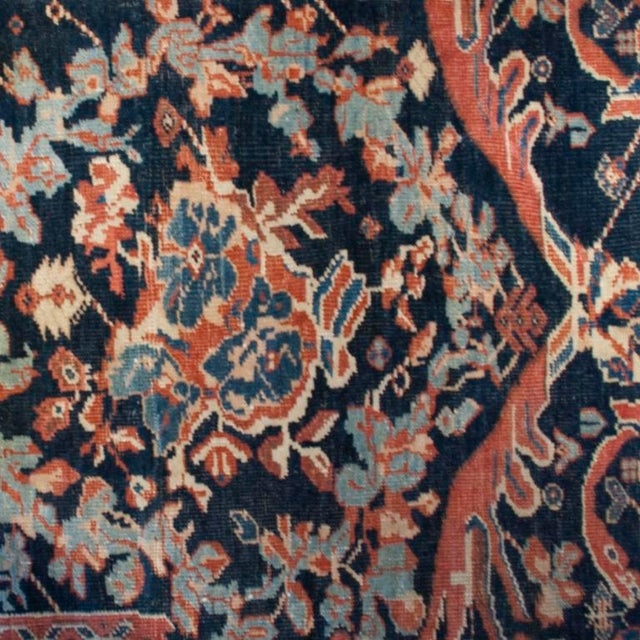 """Islamic 19th Century Sultanabad Carpet - 9'5"""" x 18'3"""" For Sale - Image 3 of 4"""