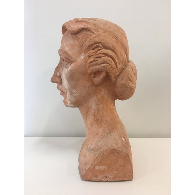 Vintage Plaster Female Bust For Sale - Image 4 of 13