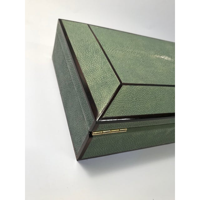 Green Bone Inlay & Shagreen Box For Sale - Image 8 of 10