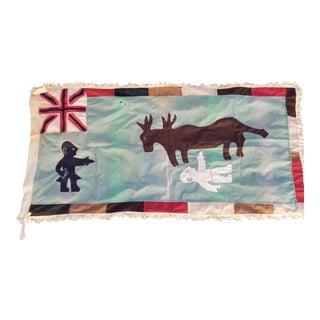 Rare Folk Art Asafo Flag