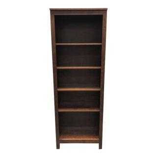 Crate & Barrel Finn Walnut Top + Slated Metal DeskPreston Walnut Bookcase For Sale