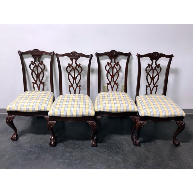 Lexington Chippendale Mahogany Ball Claw Dining Chairs- Set of 4 - Image 11 of 11