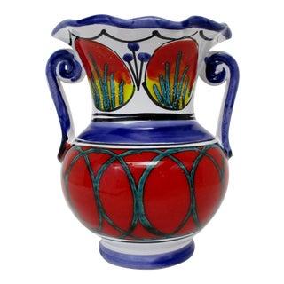 Italian Ceramic Accent Vase For Sale