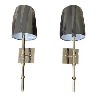 Contemporary Bamboo Sconces - a Pair