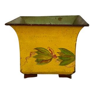 Vintage Tole Painted Cachepot For Sale