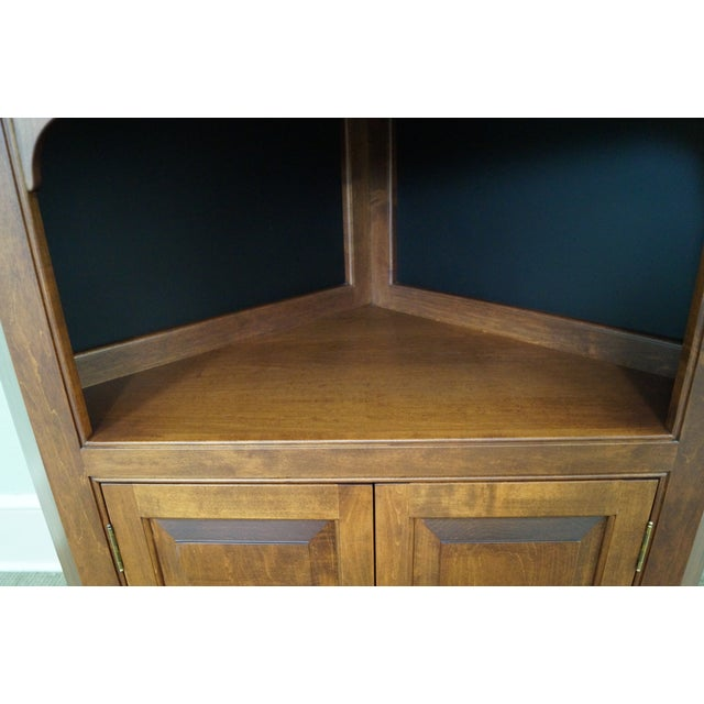 Custom Quality Solid Maple Country Corner Cabinet - Image 8 of 9