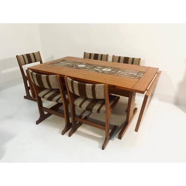 Stone 1970s Danish Modern Gangso Mobler Teak Dining Set - 6 Pieces For Sale - Image 7 of 7