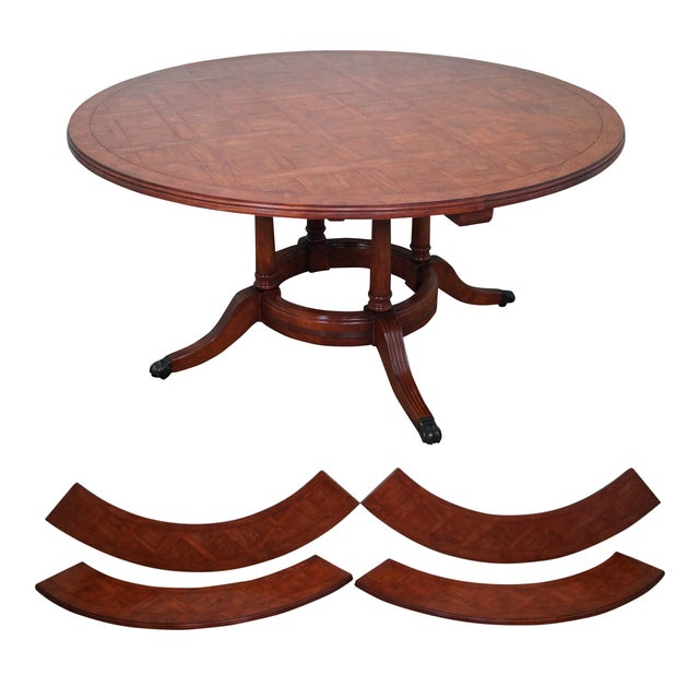 Guy Chaddock Parquet Top Extension Dining Table - Image 1 of 10