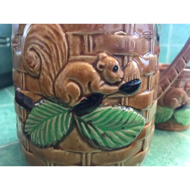 Vintage Squirrel Tea Set Japanese Pottery For Sale - Image 9 of 13