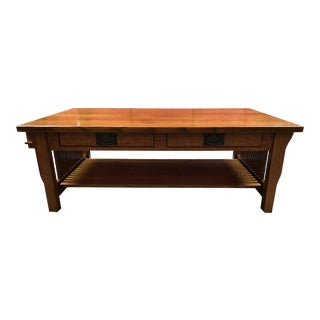 New Mission Honeybee Furniture Collection Oak Cofee Table