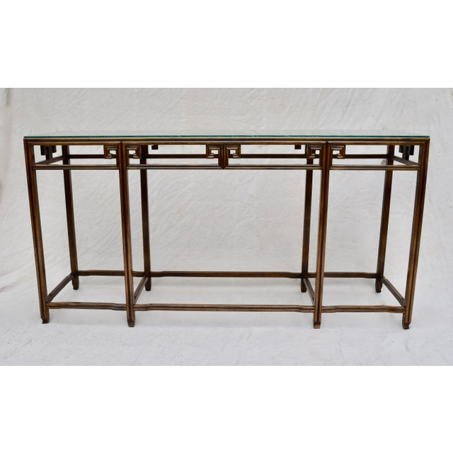 """Baker Furniture Company Baker Burlwood Console Table, """"Far East"""" Collection"""" For Sale - Image 4 of 13"""