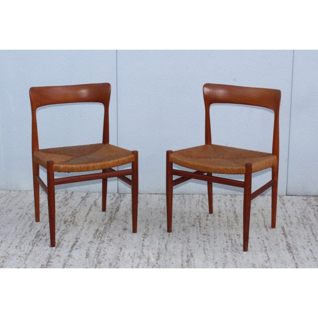 1950's Danish Teak Sculptural Dining Chairs - Set of 6 For Sale In New York - Image 6 of 13