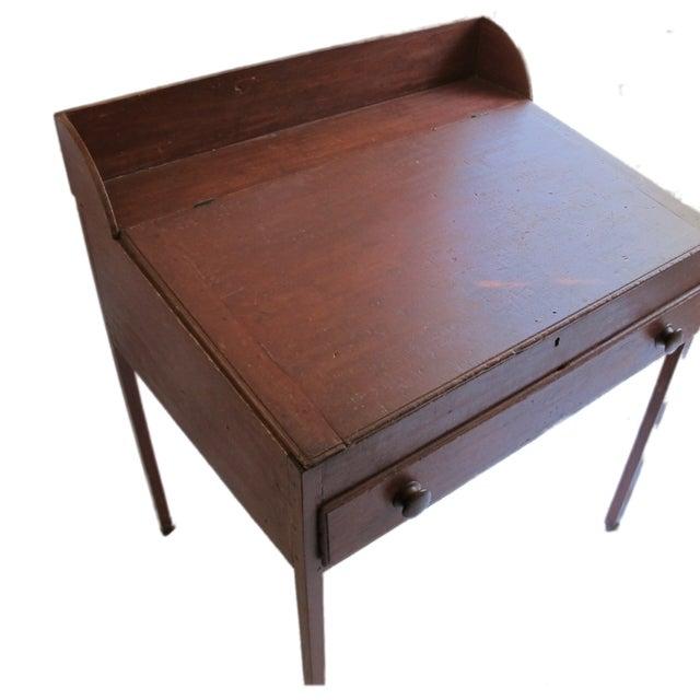 Original Red Painted Schoolmaster's Desk - Image 2 of 9