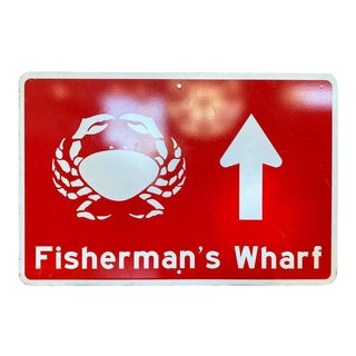 Large San Francisco Fisherman's Wharf Street Sign, 1992 For Sale