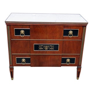 Widdicomb Directoire Style Marble Top Commode For Sale