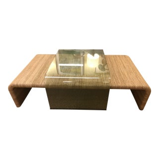 Nautical Amani Rope and Glass Cocktail Table For Sale