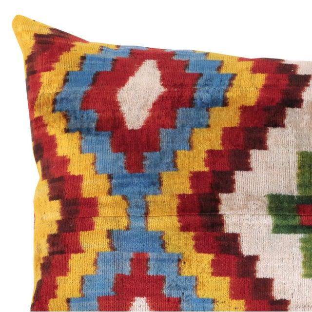 Bohemian Silk Velvet Accent Pillow - Image 4 of 5