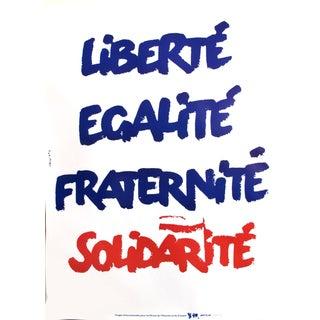 1989 Original Poster for Artis 89's Images Internationales Pour Les Droits De l'Homme Et Du Citoyen - Liberté, Égalité, Fraternité, Solidarité For Sale