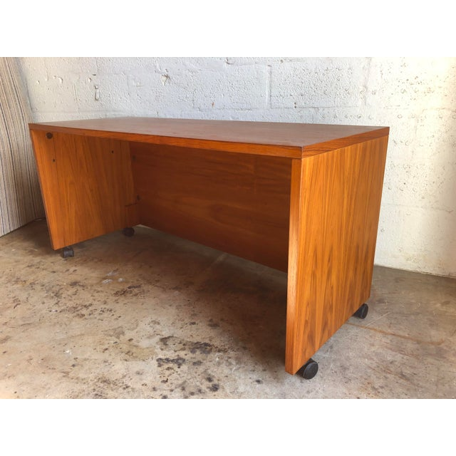 Jesper International Vintage Mid Century Danish Modern Three Sided Desk by Jesper International For Sale - Image 4 of 13