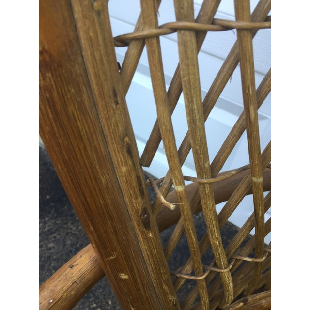 Vintage Modern Bamboo & Rattan High Back Chairs For Sale - Image 10 of 11